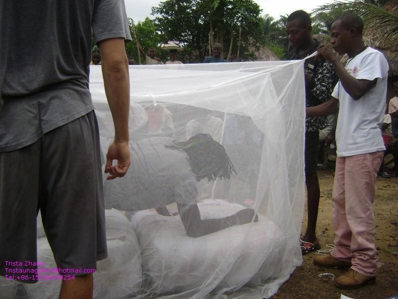medcially 100%polyethylene treated mosquito net against Malaria 1