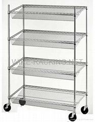 Slant Shelf Rack(Size: D46XW122XH174CM)
