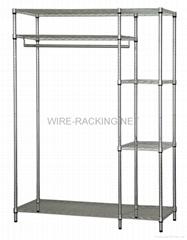 45120 Wire Rack Wardrobe(Size: D46XW122XH180CM)