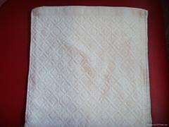 库存外贸方巾厂家直销25*25cm,20克/条,素色提花工艺