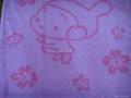 库存外贸色织提花方巾直销,35000条,单价0.85元,一等 1