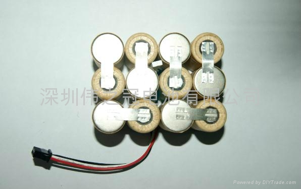 深圳伟之冠镍氢直流电动工具电池SC3000-14.4V 3