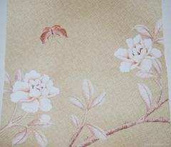 草木皮手绘墙纸