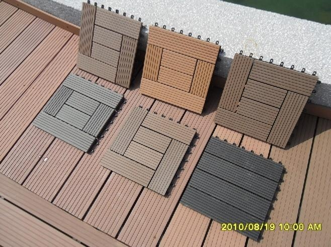 Wood Plastic Composite Diy Easy Decking Tiles 3