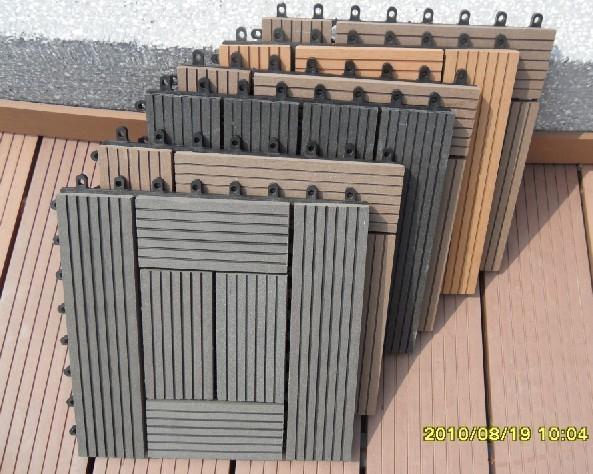 Wood plastic composite diy easy decking tiles edt for Plastic wood decks
