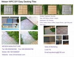 Wood Plastic Composite DIY Easy Decking Tiles
