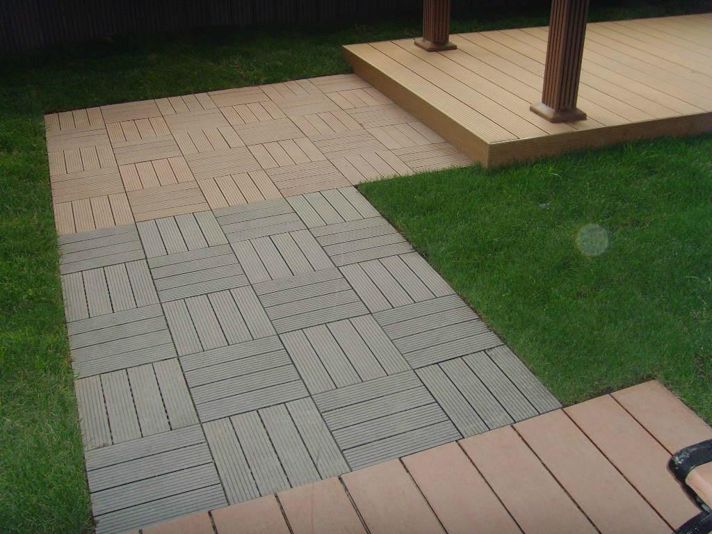Wood plastic composite diy easy decking tiles edt Composite flooring for decks