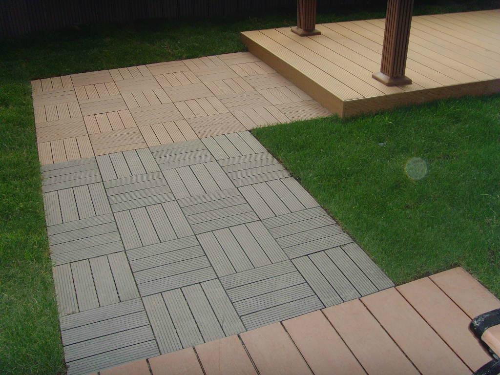 Composite Flooring Panels : Wood plastic composite diy easy decking tiles edt