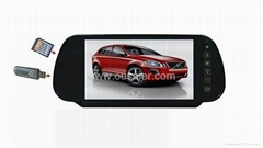 7 rearview monitor with bluetooth/USB/SD(optional)