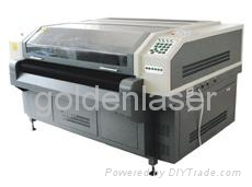 Four heads laser cutting machine for plush toy material