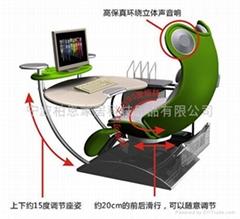 供應青蛙造型時尚家庭辦公電腦桌