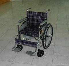 电镀坐便轮椅