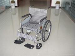 电镀黄格坐便轮椅