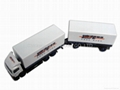 1:87 die cast double trailer truck model