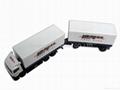 1:87 die cast double trailer truck model 1