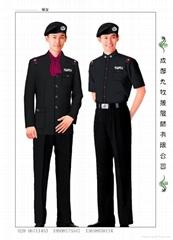 保安服订做 保安配件 帽子 肩章