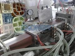 wpc decking production line-plastic profile line