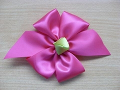big single sided satin ribbon bow for women's dress
