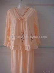 批發女款樸實純情粉紅可愛睡衣套裝10套起批2011年新款