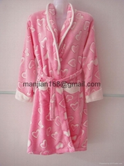 lovely autumn winter thick warm honorable coral fleece pyjamas night-robe