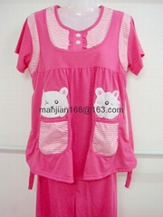 Retail Pregnant women pajamas students' lovely girl's Middle-aged nightwear suit