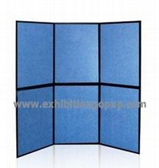 Folding panel display stand