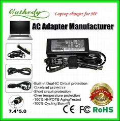 for hp 65W laptop charger DV3000 18.5V 3.5A AC adapter 7.4*5.0mm
