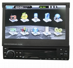 7'' one din Car dvd player with HD touch screen and bluetooth