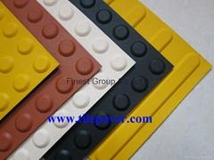 Rubber tactile tegels