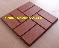 Brickface rubber tile