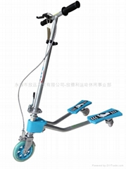 供應欣德利儿童可折疊可昇降蛙式滑板車