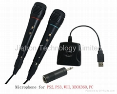 USB Audio Adapter with Microphone for PS2/PS3/Wii/XBOX360/PC