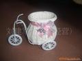 白藤三輪車裝飾籃
