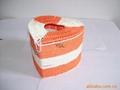 藤編心形紙巾盒