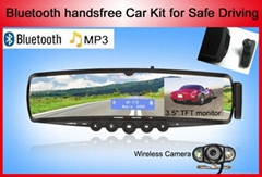 TTS Bluetooth handsfree mirror car kit