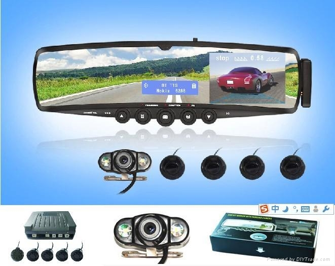 Bluetooth Rearview Mirror parking camera 3.5