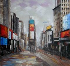 city scene painting