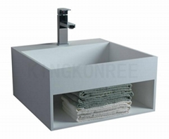 artificial stone cheap bathroom basin