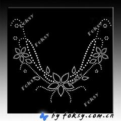 2011 new collar lace rhinestone hotfix motif