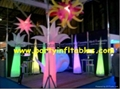 self-inflating columns Lucid star with LED light