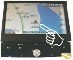 1 din 7 inch HD car MP4 player with GPS and FM
