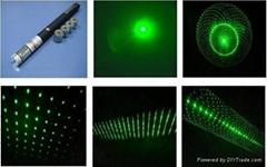 五种花形激光笔(50MW)绿光