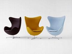 現代經典雞蛋椅,用於酒店會所休閑區域