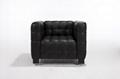 現代經典庫布斯沙發,方塊真皮縫