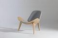 簡約時尚三腳貝殼椅,用於辦公室接待區會客 1