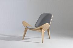 簡約時尚三腳貝殼椅,用於辦公室接待區會客