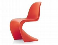 現代簡約S形維奈潘東椅,玻璃鋼ABS塑料
