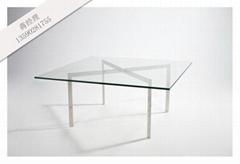 钢化玻璃不锈钢茶几,用于茶餐厅咖啡厅