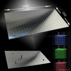 500*1000mm ceiling mounted rainfall led shower