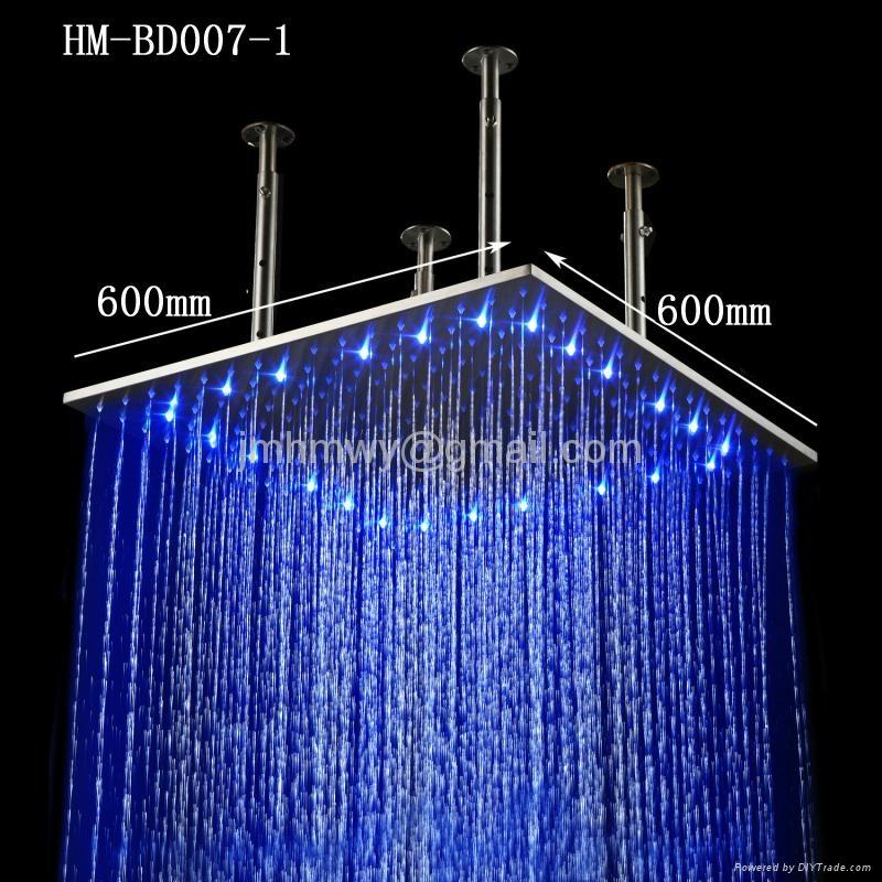 24 inches ceiling rainfall led shower light 1